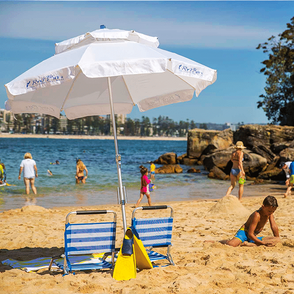 Image of: Beach Umbrella Intended Beach Umbrella Rental Book Online Manly Surf Hire